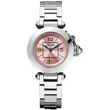 Cartier Pasha señoras reloj de acero de la señorita W3140008
