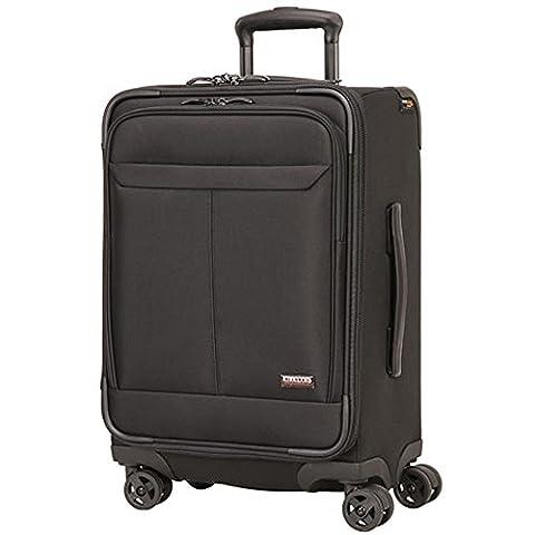 Kirkland Signature 54.6cm Durable Lightweight Soft Side Spinner Cabin Suitcase, Black