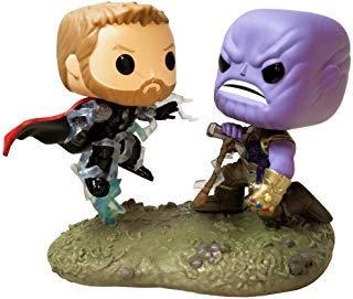 Funko 35799 Pop! Bobble - Paquete de 2 Piezas: Marvel: Movie Moments: Thor vs Thanos, Multi