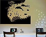 Tauchen Silhouette Kunst Wandaufkleber Mit Meeresboden Muster Spezielle Vinyl Wandbilder Home...