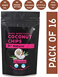 By Nature Baked Coconut Chips (Chocolate), 30g [All Natural, Not Fried. No Preservatives] (Pack of 16)