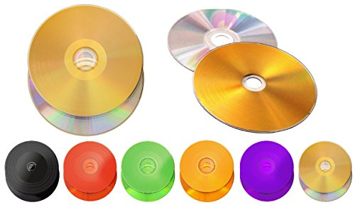 6 Stück Kronenberg24 Vinyl Collection CD Rohling silber/gold 700MB/80Min./52x