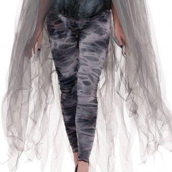 Erwachsene Zombie Strumpfhose (Zombie Leggings Zerrissene)