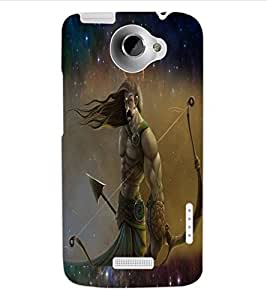 ColourCraft Karna The Warrior Design Back Case Cover for HTC ONE X