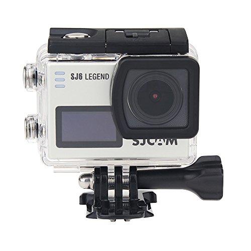 """SJCAM SJ6 Legend Action Cam, 4 K 24fps ultra HD Notavek 96660 impermeabile fino a 30 m, fotocamera sportiva DVR, telecomando sport DVR, touch screen da 2,0"""", 100{5c098b2375b0fc3be0900a912c1a136fb10d84de58bf537c39f28142457a03e8} originale, Silver"""