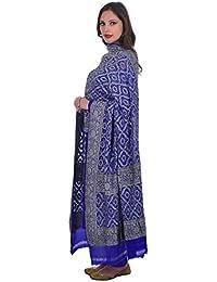 Talking Threads Women's Dupatta (TT-11833DUBNKAV_Blue_Free Size)