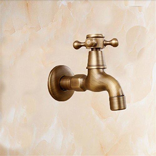 Wasserhähne im Bad Waschmaschine Wasserhahn Mop Pool Hahn Waschbecken Armatur Küchenarmatur Vintage Alle Bronze Outdoor Faucet, A