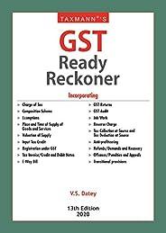 Taxmann's GST Ready Reckoner (13th Edition 2
