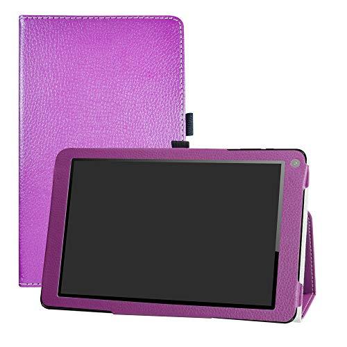 """LFDZ Odys X610195 Falcon 10 Plus 3G Hülle, Schutzhülle mit Hochwertiges PU Leder Tasche Case für 10.1"""" Odys X610195 Falcon 10 Plus 3G Tablet,Violett"""