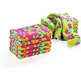 TV unser original clean Maxx de microfibra-paños de limpieza, colour verde/ Colour Rosa, 1er Pack (1 x 10 pc)