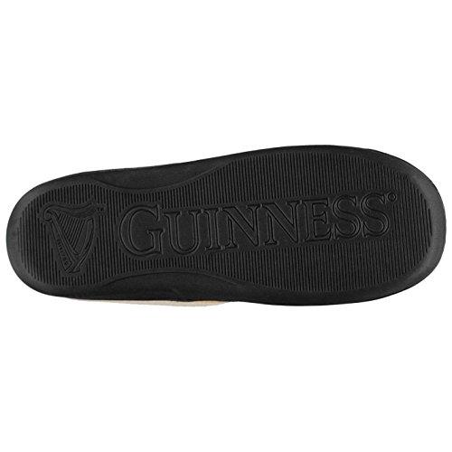 Team Hommes Portsmouth Pantoufles Chaussons Chaussure Détente Relax Doux Noir