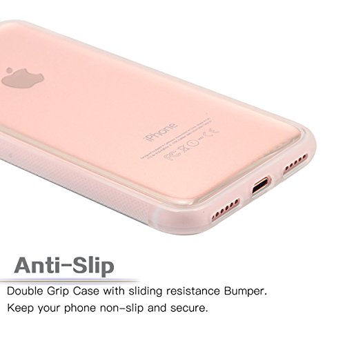 iPhone 8 Hülle, Fraelc iPhone 7 Anti Gravity Case [Nano-Saug Technologie] Freihändig Schutzhülle für iPhone 7 / iPhone 8 (4,7 Zoll) Anti-Slip TPU Bumper Silikon Schale Nano Adsorption Handyhülle - Sch Transparency