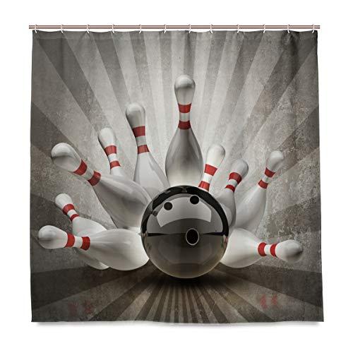 ng Ball Bad Duschvorhang Liner, Design Durable Stoff Schimmelresistent Wasserdicht Badewanne Vorhang mit 12 Haken 183,0 cm x 183,0 cm ()