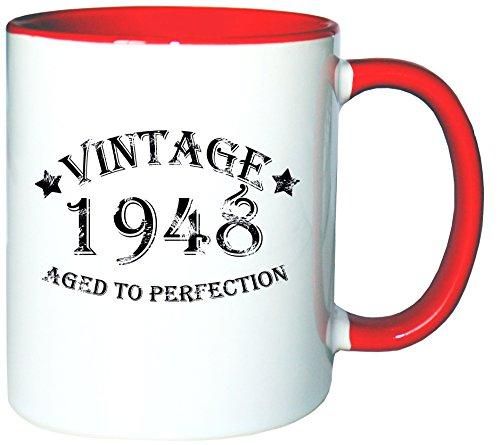 Mister Merchandise Mug Tasse à café Vintage 1948 - Aged to Perfection thé Pot grande, plein de couleurs