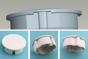 4 Stück STECKEL Staubschutz Deckel Steckdosendeckel Abdeckung für saubere Schuko-Steckdosen Steckdosenleisten Mehrfachsteckdosen Spritzschutz Design Motiv-/Hotel-/und Firmen-Steckel