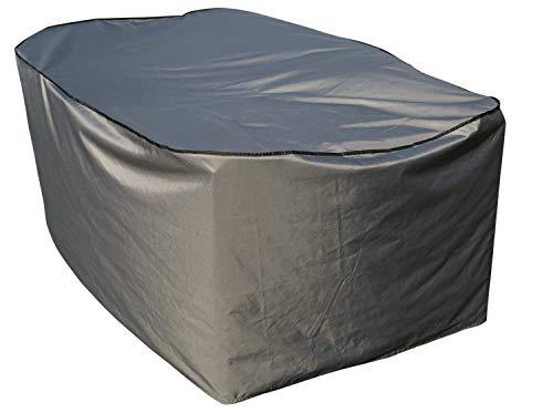 SORARA Housse de Protection Table Rectangulaire | Gris | 270 x 207 x 90 cm (L x L x H) Polyester & Revêtement PU | pour Jardin, Terrasse, Meubles | Qualité