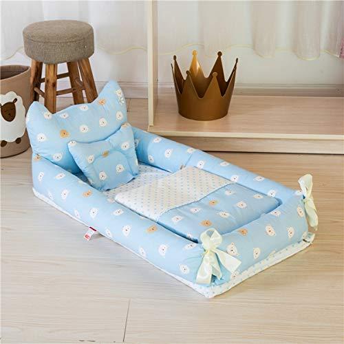 WNZL Baby Lounger, Co Sleeping Baby Stubenwagen - Babybett aus Baumwolle Premium-Qualität und größere Größe (0-24 Monate) - Atmungsaktives, hypoallergenes, tragbares Kinderbett,5 -