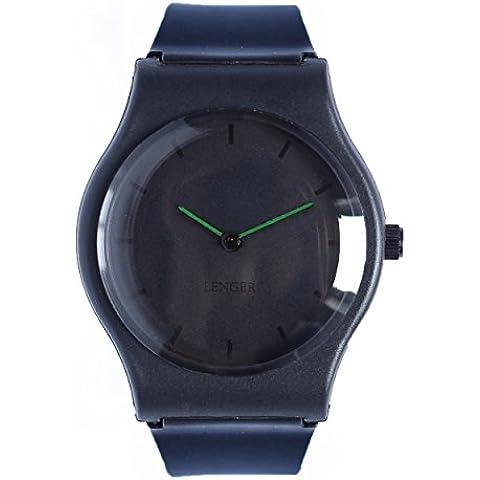 Orologio Lenger analogico–Verde–movimento quarzo giapponese–Semplice, minimalista–Waterproof 3ATM–Quadrante e cinturino in resina