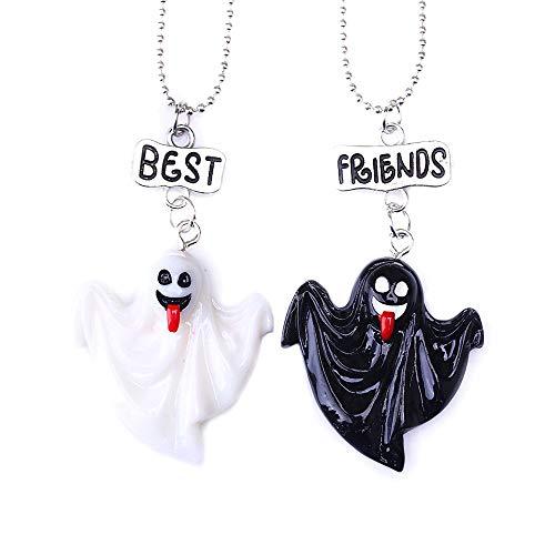 kette Halloween Geist Kragen Zwei Halsketten Geschenk für Freunde ()