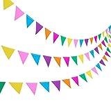 Blulu 3 Stück Papier Wimpel Girlande 11,5 Fuß Party Bunting Hängende Dekorationen für Hochzeit Geburtstag Hause Deko