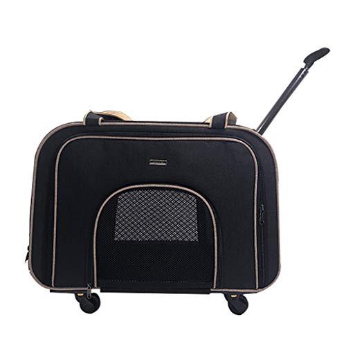 Passeggino per Cani Prodotti per Animali Domestici Trolley for Cani Camminatore Disabili Passeggino for Animali Domestici Ruota Muto (Color : Black, Size : 58 * 32 * 38cm)