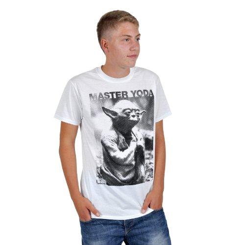 Preisvergleich Produktbild STAR WARS Herren T-Shirt MASTER YODA PHOTO Weiß Gr. M