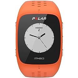 Polar M430 Reloj de Entrenamiento con GPS y Pulsometro de Muñeca, Unisex Adulto, Naranja, M/L