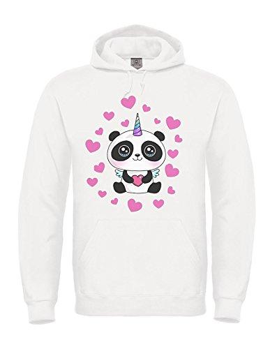 Tshirt-express felpa del pandacorno - youtuber italiani panda corno taglie bambino, ragazzo, adulti unisex (11/12 anni)