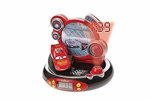 Lexibook - RP500DC - Jeu Electronique - Radio Réveil Projecteur - Disney Cars