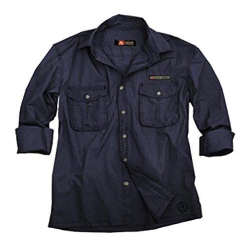 Herren Safari Outdoor- Hemd in beige und blau, Langarm Shirt von Kakadu Australia