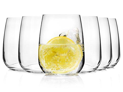 Bluespoon Trinkgläser Set 'Michelle' aus Kristallglas 6 teilig   Füllmenge 500 ml   Ideal auch als Cocktailglas geeignet   Top Qualität und Verarbeitung (500 ml)