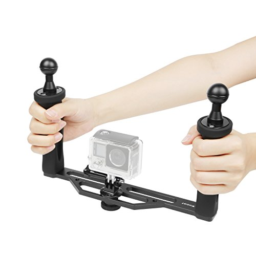 Feature:Este dispositivo de estabilización de mano compatiable para GoPro 5/4/3+/3 cámaras y todos los puertos de la cúpula de menos de 6 '' pulgadas también las otras cámaras de acción con adaptador, o cámaras Sony acción de la leva, cámaras compact...