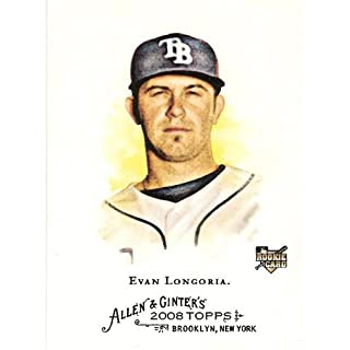 2008 Topps Allen and Ginter # 177 Evan Longoria RC Rookie Card ( Tampa Bay Rays ) MLB Baseball Card in