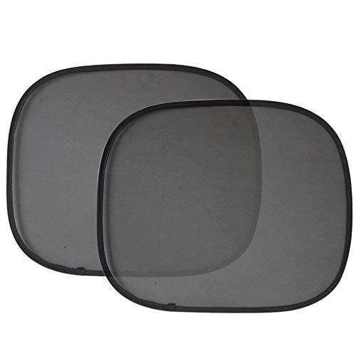 IMHERE W U 1 Paar Faltbarer Auto-Seitensonnenschutz-Selbstfenster-Mesh-Vorhang Fahrzeugsonnenblende Sonnenschutz-Abdeckung Mesh-Schild Car-Styling