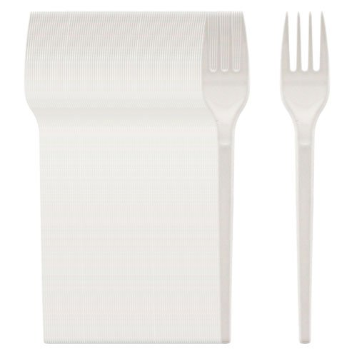 Stalwart U641 Lightweight Plastic Cutlery Fork (Pack of 100)