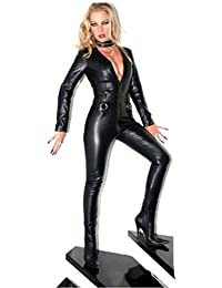 Forever Young Ladies Lycra Spandex Bodysuit Catsuit Dress PVC Catsuit Sexy Hen Party Outfit XXL UK Size 16