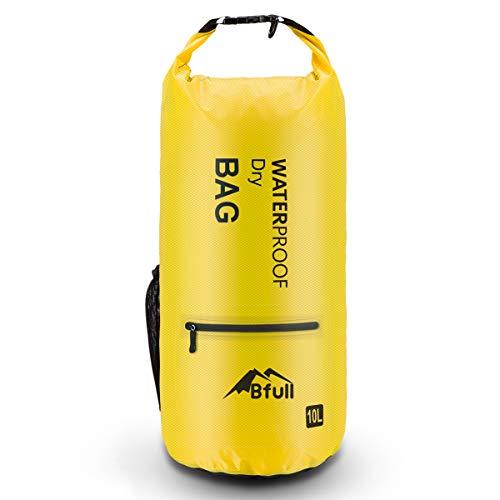 Bfull Dry Bag, 5L/10L/20L/30L/40L Leicht Wasserdichte Tasche/Trockensack mit 2 Außentasche mit Reißverschluss und lang Verstellbarer Schultergurt für Boot und Kajak Wassersport -