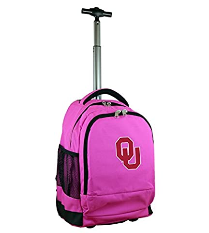 NCAA Oklahoma Sooners Expedition Wheeled Backpack, 19-inches, Pink