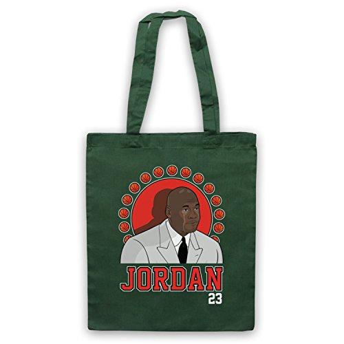 Ispirato Da Piangere Jordan Michael Jordan 23 Basketballer Award Mantelle Non Ufficiale Borse Verde Scuro