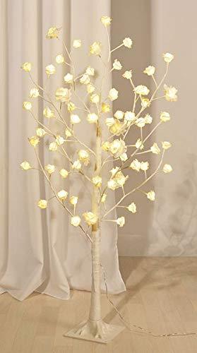 Gravidus Rosenblütenbaum mit 72 warmweißen LED´s 125cm