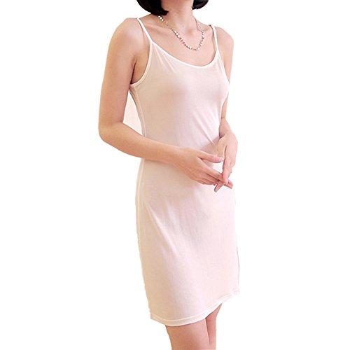 100% Pure Silk Women'S Full Slips Femme Black Underskirt Women Petticoat Ladies Underdress Female Lingerier Woman Slip (L) Size