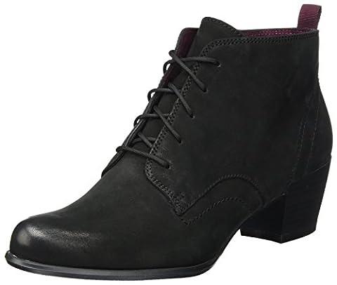 Tamaris Damen 25115 Stiefel, Schwarz (Black Nubuc), 37 EU