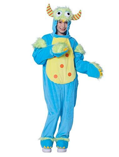 Deiters Monster Kostüm - Deiters Overall Plüsch Monster blau Kinder