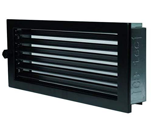 CB Warmluftgitter 45x15, schwarz, Standard