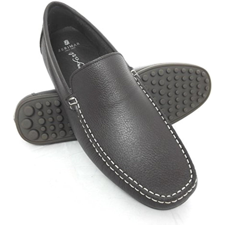 66b246b090608 Pour Couleur Chaussures Zerimar Cuir En Homme Hommes Mocassins qwxqUI5g