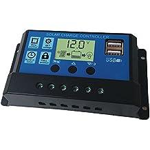 100a Solar Panel Battery Regler Laderegler 12 Wechselrichter 24v Auto Mit Dual Usb