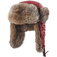 Zxcvb Invierno Lleno de Piel de Conejo Lei Feng Hat Plus Terciopelo Engrosamiento Piel de imitación Orejeras Sombrero de Montar en frío a Prueba de Viento Sombrero noreste Cap