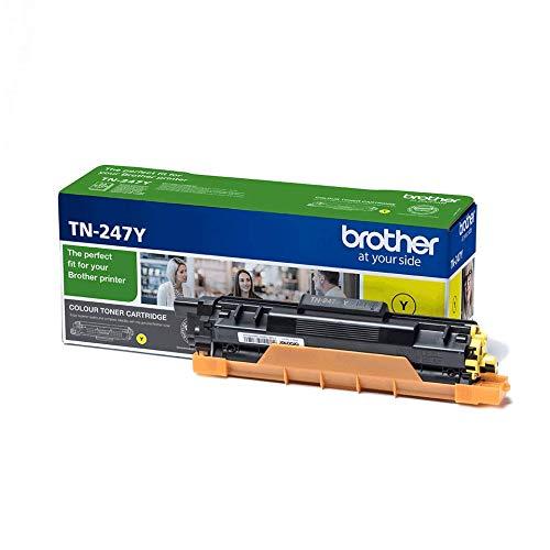 Original Brother Jumbo-Tonerkassette TN-247Y Gelb (für Brother DCP-L3510CDW, DCP-L3550CDW, HL-L3210CW, HL-L3230CDW, HL-L3270CDW, MFC-L3710CW, MFC-L3730CDN, MFC-L3750CDW und MFC-L3770CDW) -