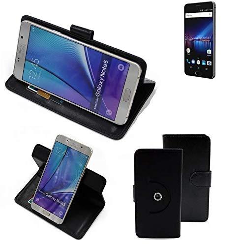 K-S-Trade® Case Schutz Hülle Für -Phicomm Passion 4- Handyhülle Flipcase Smartphone Cover Handy Schutz Tasche Bookstyle Walletcase Schwarz (1x)