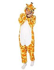 Idea Regalo - Très Chic Mailanda Unisex da adulto Costume Intera Pigiama Cosplay Animale Pigiama costume di Halloween(giraffa)